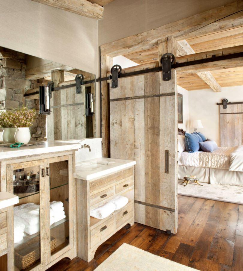 puertas de madera corredizas rusticas