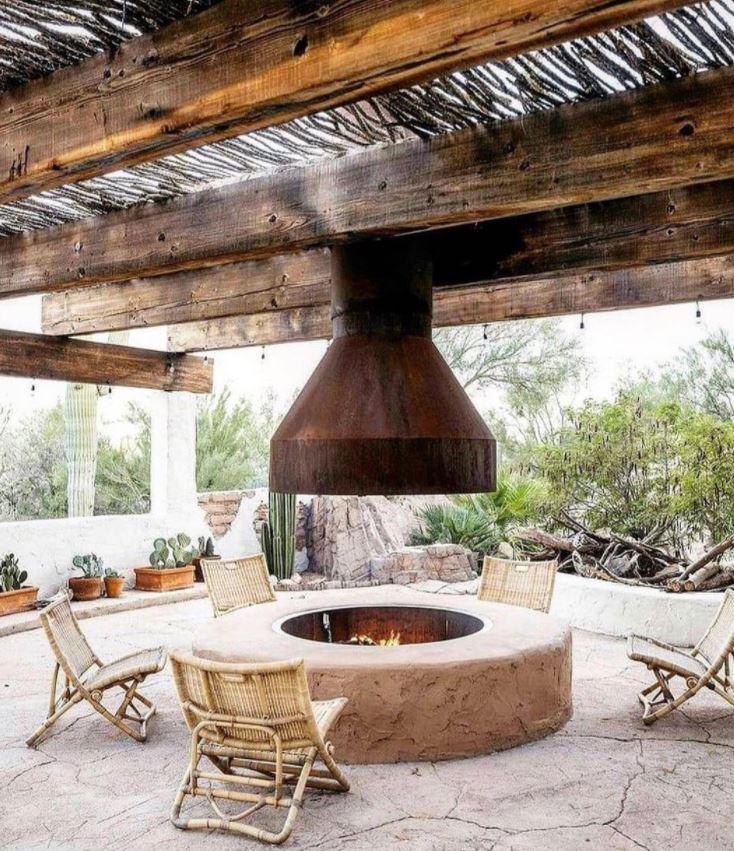 rusticas barbacoas de obra con tejado