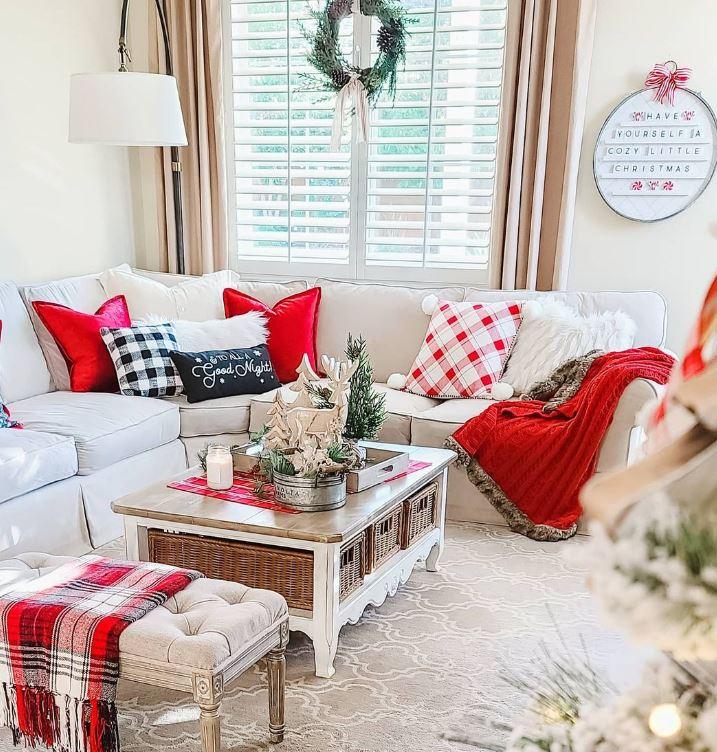 salon decorado de navidad