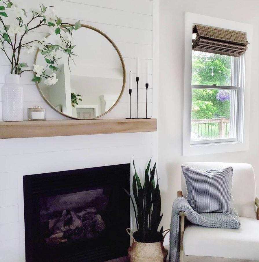 salones minimalistas con chimenea