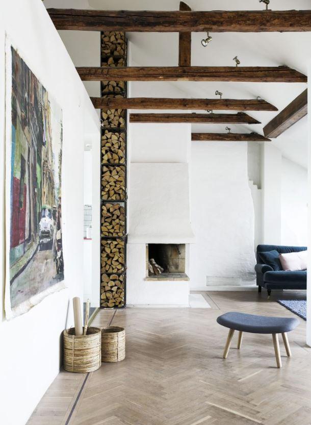 salones originales con chimenea