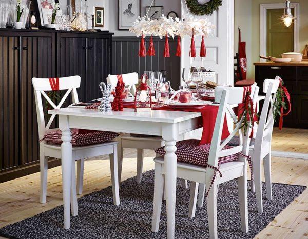 sillas de comedor decoradas para navidad