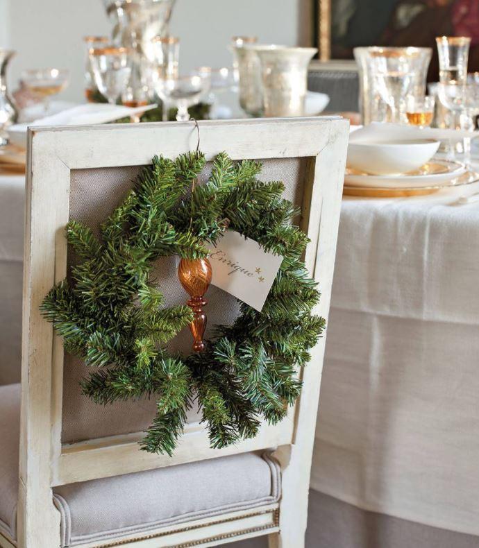 sillas decoradas de navidad