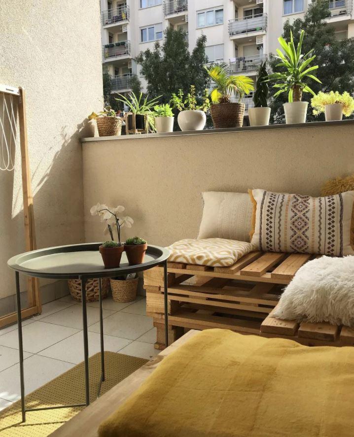 sofa de palets para terraza