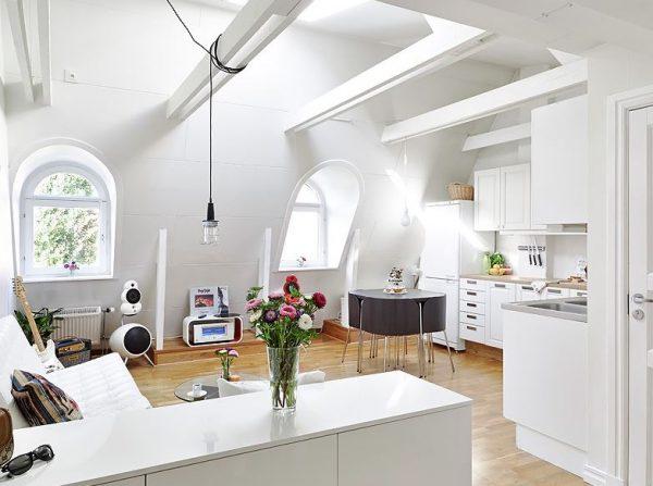 techos blancos para salones modernos