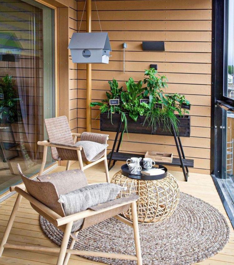 terraza pequeña cerrada decoracion