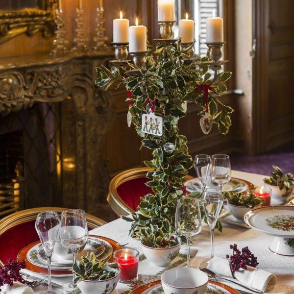 vajillas decoradas para navidad
