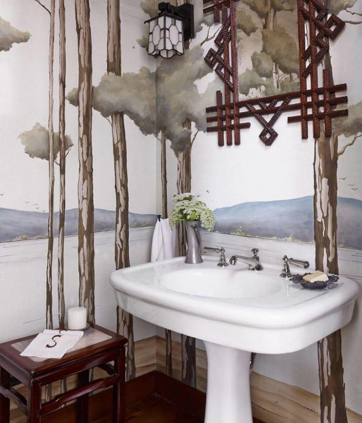 vinilos decorativos para baños rusticos