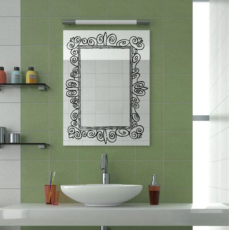 vinilos decorativos para espejos baños